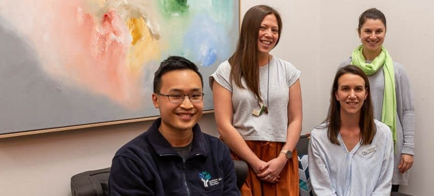 Photo of four staff from Independent Rehabilitation Services